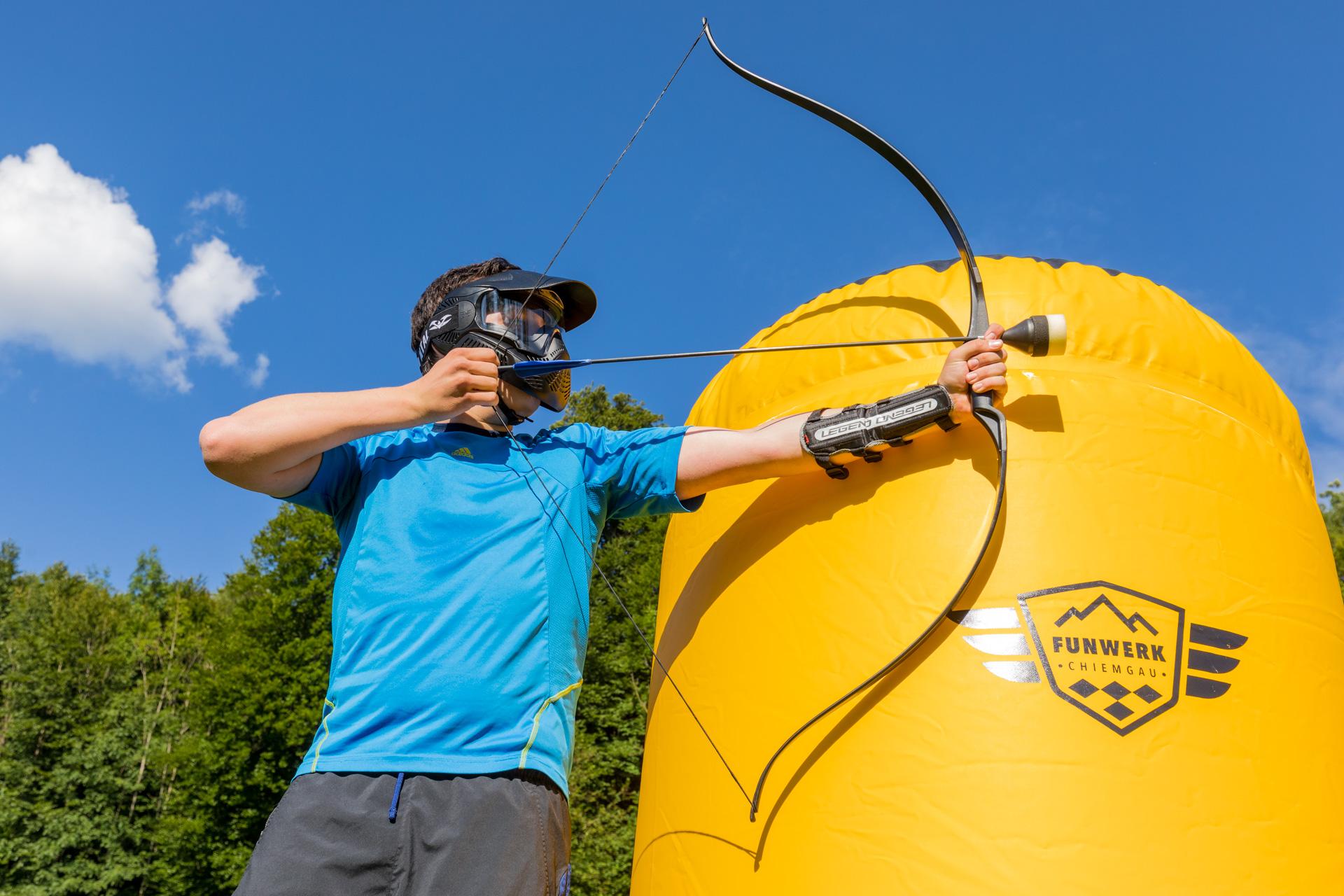 Archery Tag bei Funwerk Chiemgau