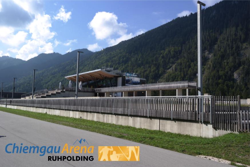 Segway in der Biathlon Weltcuparena Ruhpolding