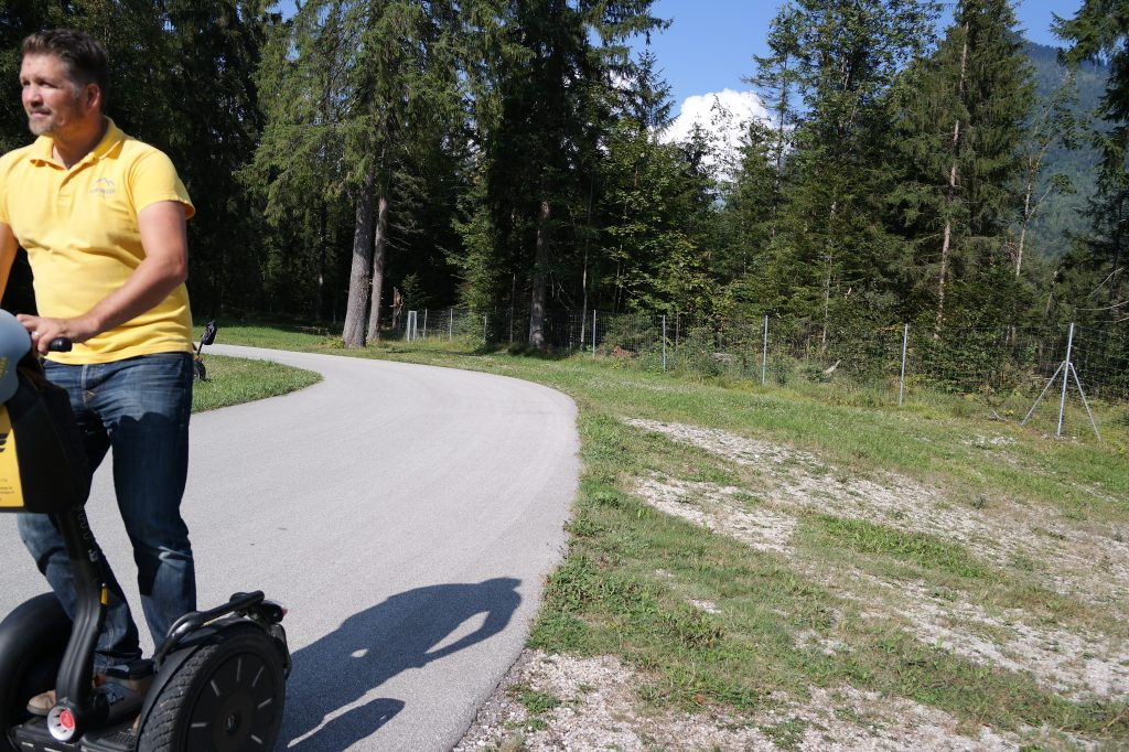 Segway fahren in der Biathlon Weltcuparena Ruhpolding